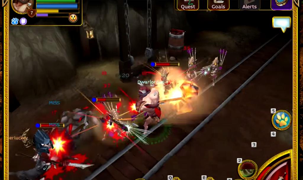 arcane legends MMORPG browser game